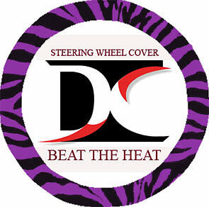 Cute Zebra Purpel Steering Wheel Cover Goodquality Cool