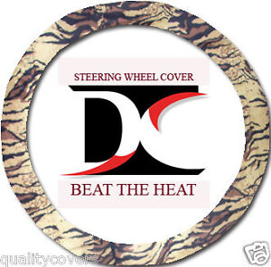 Nice Brown Tiger Steering Wheel Cover Cool Goodquality