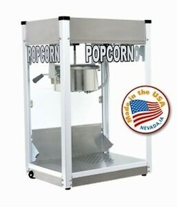 Commercial 8 Oz Popcorn Machine Theater Popper Maker Paragon Pro Series Ps 8