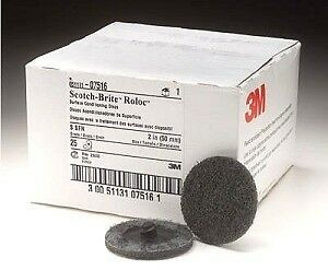 Scotch Brite 2 Gray Roloc Surface Conditioning Disc 3m 07516