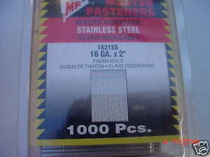 1 000 Stainless Steel 2 Inch 16ga Finish Nails
