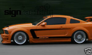 2005 2009 Ford Mustang Custom Side Stripe Decals Gt