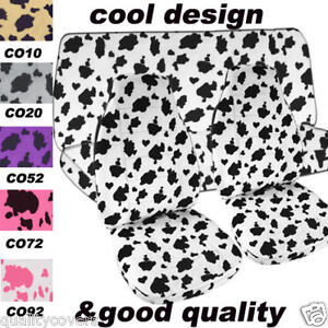 2001 Jeep Wrangler Black And White Cow Seat Covers Front And Rear