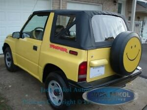 88 94 Suzuki Sidekick Geo Tracker Vitara Replacement Soft Top Black