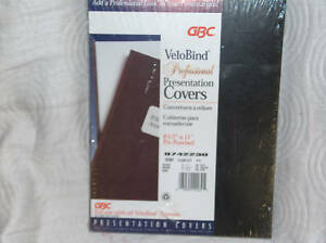 Gbc Velobind Presentation Covers Prepunched 25 Sets