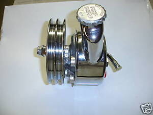 Gm Power Steering Pump W Reservoir And 3941107de Pulley Chrome