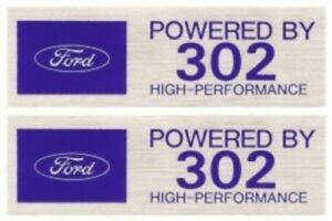 Powered By Ford 302 High Performance Valve Cover Decals