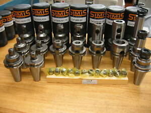 Simis Cat 40 End Mill Holders Er20 Techniks Collets Tool Holder Package