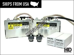 Denso Koito Hid Ballast 2x Philips D2s Hid Bulbs 2x Combo Pack
