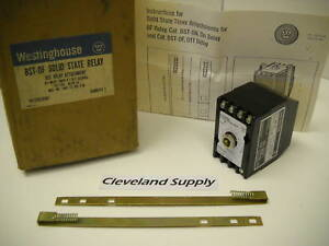 Westinghouse Bst of Solid State Timer Relay Off delay 1 30 Sec 120v New In Box