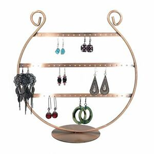 Horseshoe Shaped Metal 3 Layer Necklace Wire Rack Display Stand Holder New
