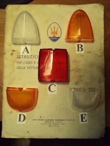 Maserati 3500 Ferrari 250 Gt Ellena Tail Light Lens