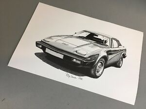 Triumph Tr7 Pen And Ink Print