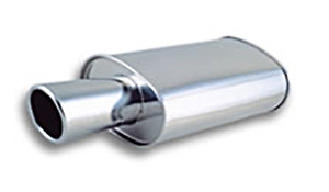 Vibrant 3 0 3 3 Inch 75mm Streetpower Oval Muffler With 4 Tip