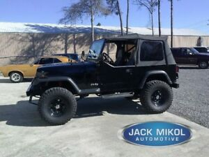 Black 1988 1995 Jeep Wrangler Soft Top Tinted Windows W O Skins