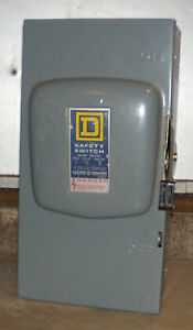 O Square D 100 Amp Safety Switch Disconnect D223n New