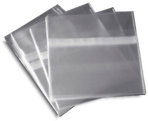 100 pak resealable Plastic Wrap Cd Sleeves For 10 4mm Jewel Cases