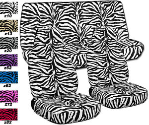 Fits Jeep Wrangler Tj 1997 2002 Car Seat Covers Front rear Zebra Choose Colors