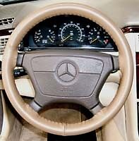 Mercedes Genuine Leather Steering Wheel Cover Many Colors Wheelskins Mb1ws