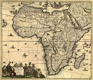 1688 Africa Middle East Historic Old World Map 16x20