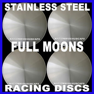15 Full Moon Hot Rod Racing Disc Hub Caps Solid Wheel Covers Rims New Set Of 4