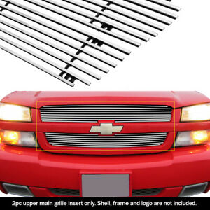 Fits 03 05 Chevy Silverado 1500 03 04 2500 Main Upper Billet Grille