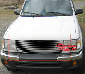 Fits 1998 2000 Toyota Tacoma Main Upper Billet Grille Grill Insert