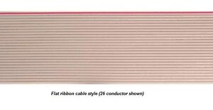 40 Conductor Flat Ribbon Cable Gray Pvc 25 Foot Roll