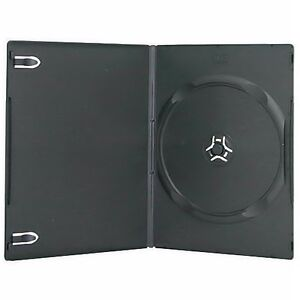 200 New Single Standard 14mm Regular Black Dvd Case Cd fedex Ground Fast Ship