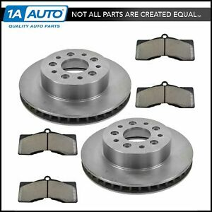 Front Metallic Disc Brake Pad Rotor Kit For 65 82 Chevy Corvette