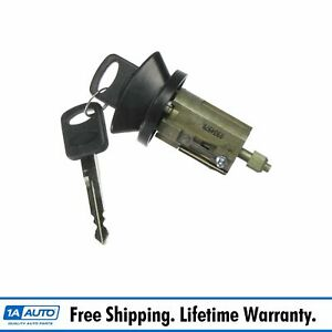 Black Bezel Ignition Lock Cylinder W Key For Ford Mercury Lincoln Pickup Truck