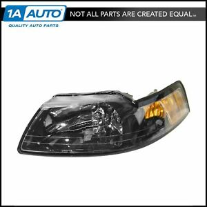 Headlight Headlamp W Smoked Bezel Driver Side Left Lh For 99 04 Ford Mustang
