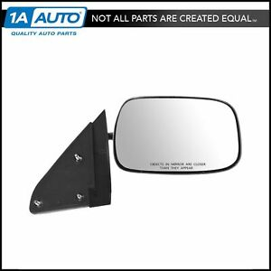 Mirror Side View Manual Stainless Steel Passenger Right R For Chevy Gmc Pickup