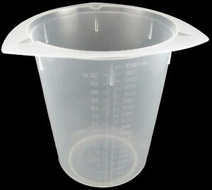 25 X 1000ml Disposable Polypropylene Tri pour Beakers