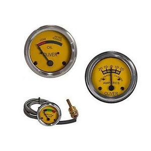 Oliver Water Temperature Oil Pressure Amp Gauge Set 44 55 66 77 88