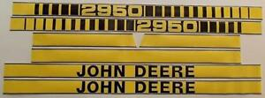 Jd410 Hood Decal Kit Set Made For John Deere Tractor 2950