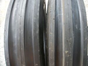 Two New 6 00 16 3 rib Farmall 340 Tractor Tires