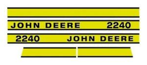Jd2240e Hood Decal Made For John Deere Tractor 2240 Early Model