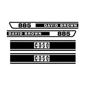 Db885 Tractor Hood Decal Set Made For Case David Brown 885