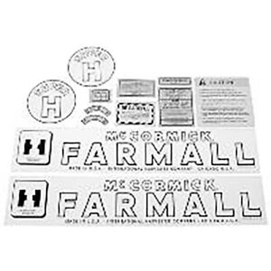 Hood Safety Decal Set For Farmall International Super H Tractor Fa604sb