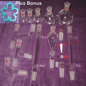 New Organic Chemistry Lab Glassware Kit 24 40 29