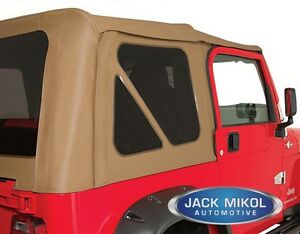 Spice 97 06 Jeep Wrangler Soft Top Tinted Rear And Back Windows