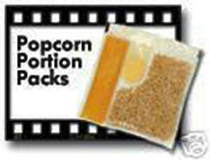 Popcorn Packs Portion Kit 6oz 1cs Popcorn Kernels Oil Salt Packets