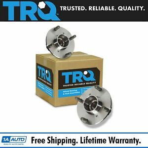 Trq Rear Wheel Hubs Bearings Left right Pair For Suzuki Swift Pontiac Firefly