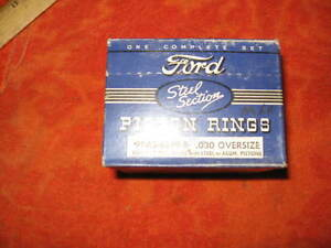 1932 33 34 35 36 37 38 39 40 42 44 Ford V8 95 Hp Engine Piston Ring Set 030