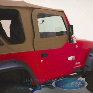 Spice 97 06 Jeep Wrangler Complete Skins Upper Doors Front Windows Metal Frames