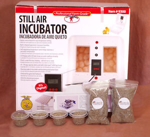 Little Giant Still Air Egg Incubator Kit For Reptiles Thermometer Substrate