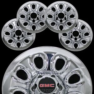 Set Of 4 Gmc 1500 6 Lug 17 Chrome Wheel Skins Rim Simulators Hub Caps Covers