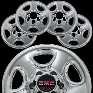 Set Of 4 Gmc 6 Lug 16 Chrome Wheel Skins Rim Simulators Hub Caps Full Covers