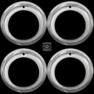 Chevy Gmc 6 Lug 15 Rally Wheel 3 Deep Trim Rings Beauty Rim Ring Steel Wheels
